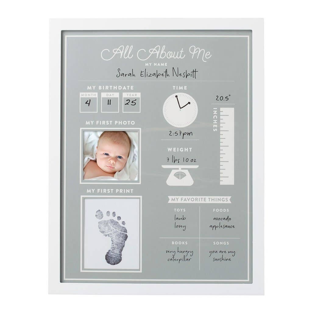 All About Me Baby's 1st Year Frame and Clean Touch Ink Pad