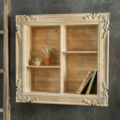 Carved Wood Shadow Box (Special Order)