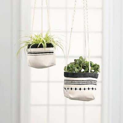 Canvas Planter 2 pc 6 x 6 x 6
