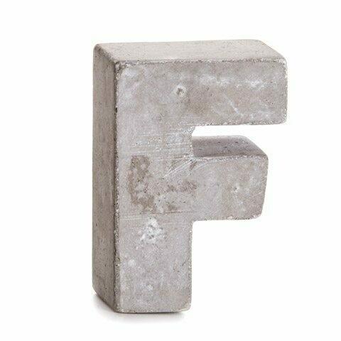 Darice® Mini Cement Letters Decor - Letter F
