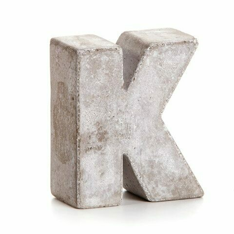Darice® Mini Cement Letters Decor - Letter K