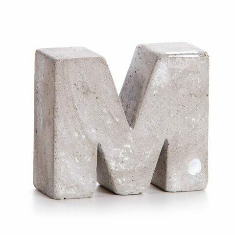 Darice® Mini Cement Letters Decor - Letter M