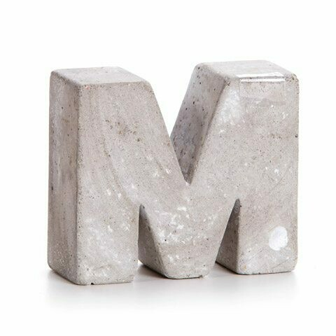 Darice® Mini Cement Letters Decor - Letter M