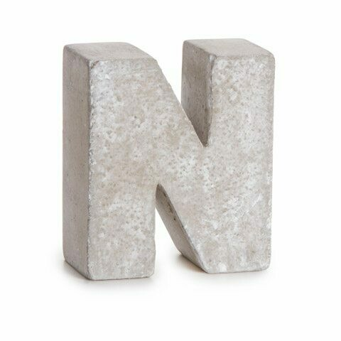 Darice® Mini Cement Letters Decor - Letter N