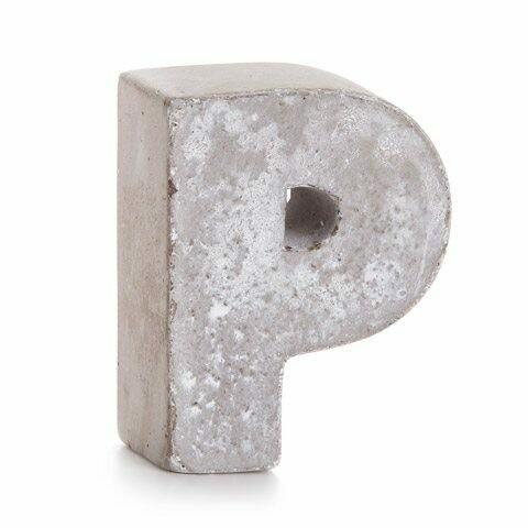 Darice® Mini Cement Letters Decor - Letter P