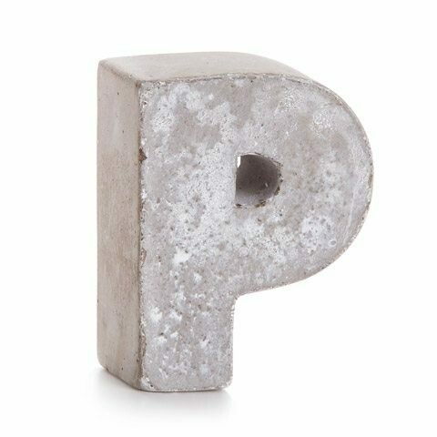 Darice® Mini Cement Letters Decor - Letter P