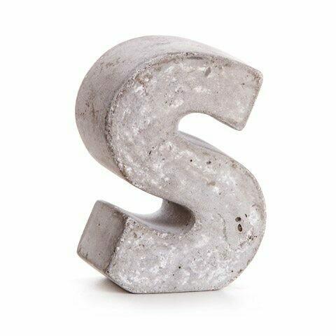 Darice® Mini Cement Letters Decor - Letter S