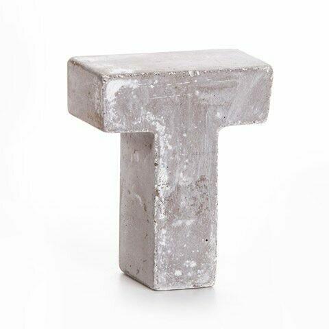 Darice® Mini Cement Letters Decor - Letter T