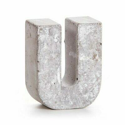Darice® Mini Cement Letters Decor - Letter U