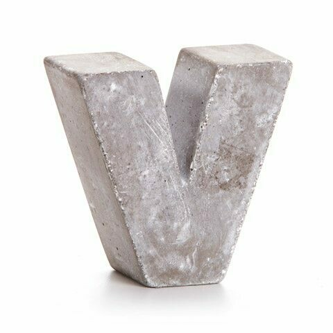 Darice® Mini Cement Letters Decor - Letter V