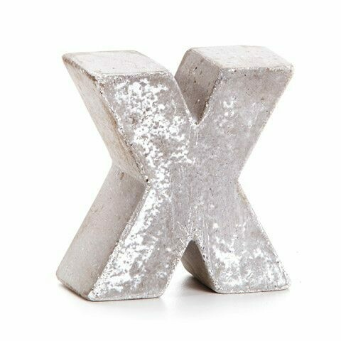 Darice® Mini Cement Letters Decor - Letter X