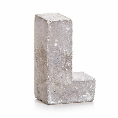 Darice® Mini Cement Letters Decor - Letter L