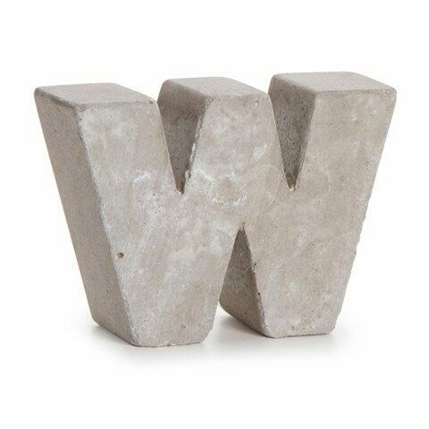 Darice® Mini Cement Letters Decor - Letter W