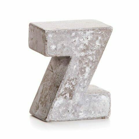 Darice® Mini Cement Letters Decor - Letter Z