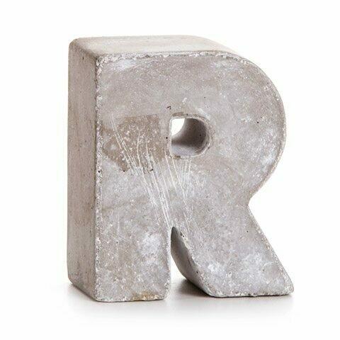 Darice® Mini Cement Letters Decor - Letter R