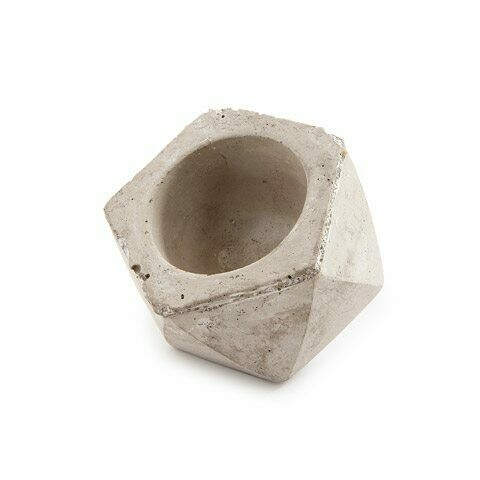 Darice® Small Angled Cement Planter Pot with Large Opening
