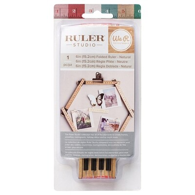 Folded Rulers - Natural 6in