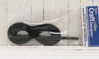 6.25 IN Satin Mask on Stick Black