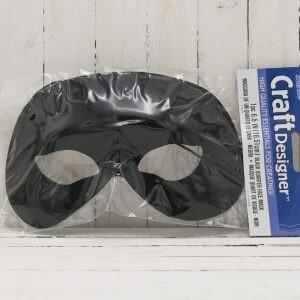 6.5 IN Quarter Face Mask Black