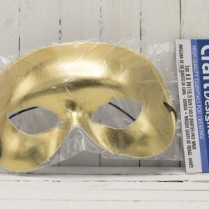 6.5 IN Quarter Face Mask Gold