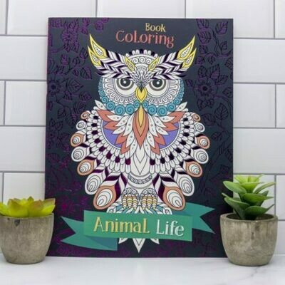 Adult Coloring Book- Animal Life
