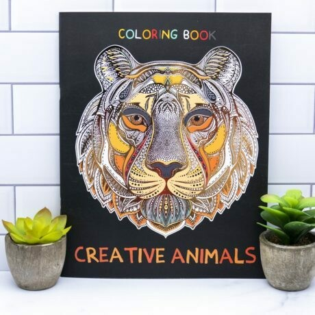 Adult Coloring Book- Creative Animals