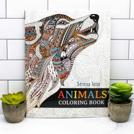 Adult Coloring Book- Stress Less- Animals