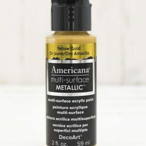 Americana Multi Surface Paint -Metallic Yellow Gold - 2 Ounces