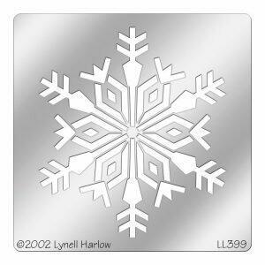 Antler Snowflake Metal Stencil