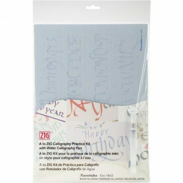 A to Zig Calligraphy Practice Kit with Water Calligraphy Pen