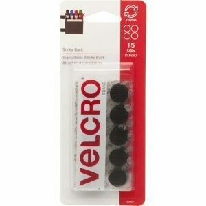 Black Velcro Sticky Back Circles 15 pc.