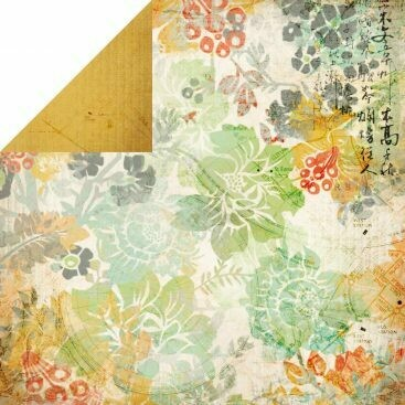 Cherry Blossom- Lush Collection- double sided paper 12 x 12