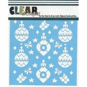 Clear Scraps Stencil 12 x 12 Holiday Bulbs