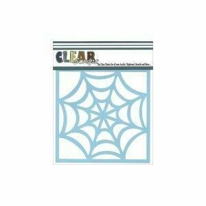 Clear Scraps Stencil 12 x 12 Spiderweb