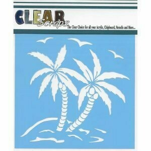 Clear Scraps Stencil 12 x 12 Summer Palm