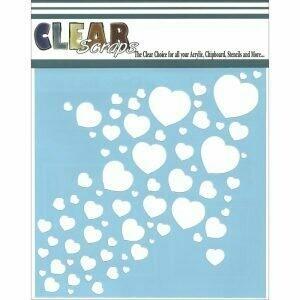 Clear Scraps Stencil- Heart Arrow 6 x 6