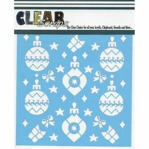 Clear Scraps Stencil- Holiday Bulbs 6 x 6