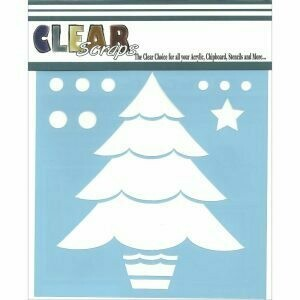 Clear Scraps Stencil- Layered Christmas Tree 6 x 6