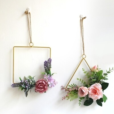 Gold Geometric Hanging Decorations - (Special Order)