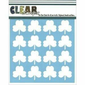 Clear Scraps Stencil- Shamrock 6 x 6