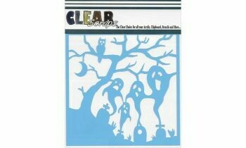 Clear Scraps Stencil- Spooky Graves 6 x 6
