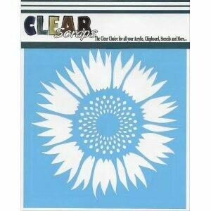 Clear Scraps Stencil- Sunflower 6 x 6