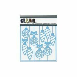 Clear Scraps Stencil- Swirl Christmas Bulbs 6 x 6