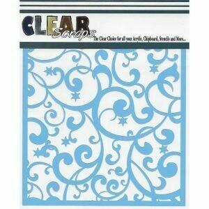 Clear Scraps Stencil- Twinkle Flourish 6 x 6