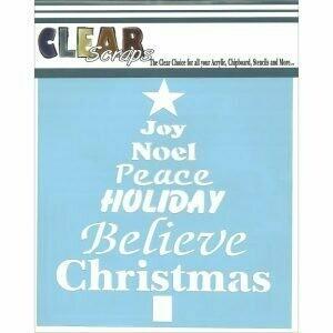 Clear Scraps Stencil- Word Tree 6 x 6