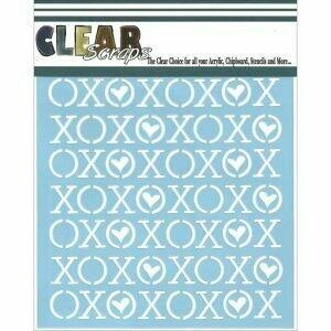 Clear Scraps Stencil- XOXO 6 x 6