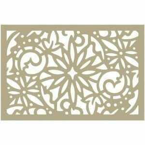 Couture Creations- Christmas Damask Stencil 4 x 6