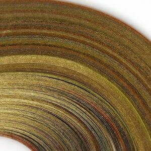 Craft Harbor Touch of Gold Multi Color Quilling Strips 1/8