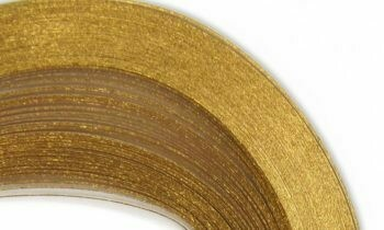Craft Harbor Touch of Gold/White Quilling Strips 1/8