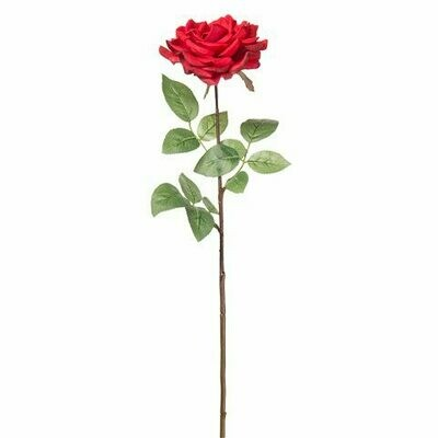 Long Stem Real Touch Stamen Rose- Red 28.5 inch